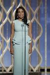 Rosario Dawson speaks at 70th Golden Globes
