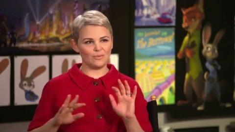 """Zootopia Zootropolis """"Judy Hopps"""" Behind The Scenes Interview - Ginnifer Goodwin"""
