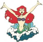 Little Mermaid Wooden Boxed Pin Set (Ariel Jumping Out of Water)