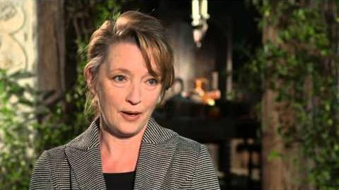 "Maleficent Lesley Manville ""Flittle"" On Set Movie Interview"