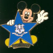 Connecticut Flag Mickey Pin