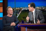 Sting visits Stephen Colbert