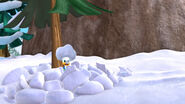 Donald covered in snow
