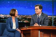 Laurie Metcalf visits Stephen Colbert