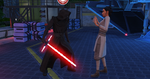 The Sims 4 Star Wars Journey to Batuu - Rey and Kylo's daughter with Kylo