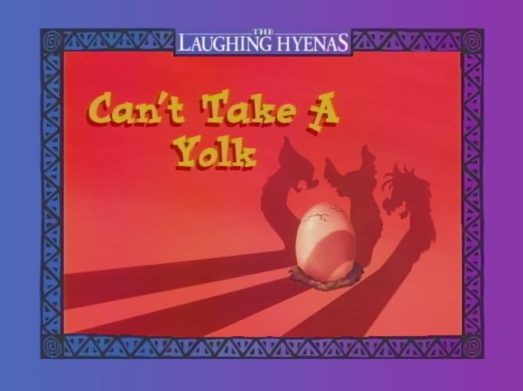 Can't Take a Yolk