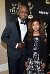 Wayne Brady and daughter Maile at Emmys