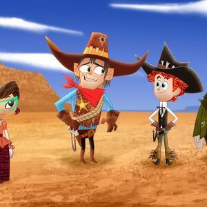 The Old Old West - Sashi, Sheriff Scaley Briggs, Penn and Boone.jpg