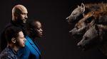 The Lion King (2019) - Keegan-Michael Key, Florence Kasumba and Eric Andre with Kamari, Shenzi, and Azizi