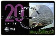 AT&T Spaceship Earth phone card