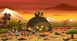 Sasha and Grime destroying Giant Frog-Bot