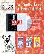 101 Dalmatians album + audio trade print ad BB-1996-09-21