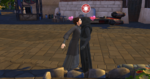 The Sims 4 Star Wars Journey to Batuu - Rey and Kylo kiss