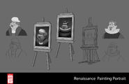 Big Hero 6 The Series props - Renaissance Painting Portrait