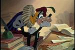 Goofy studying overnight
