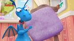 Stuffy purple pillow