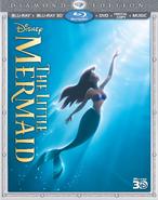 The Little Mermaid 3D Blu ray Diamond Edition