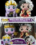 Ursula and Cruella Pop Hot Topic 2 pack