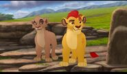 Kion telling all the pridelanders that Vitani should be the new leader of the lion guard
