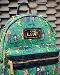 Loungefly Loki Variants mini backpack (close-up)