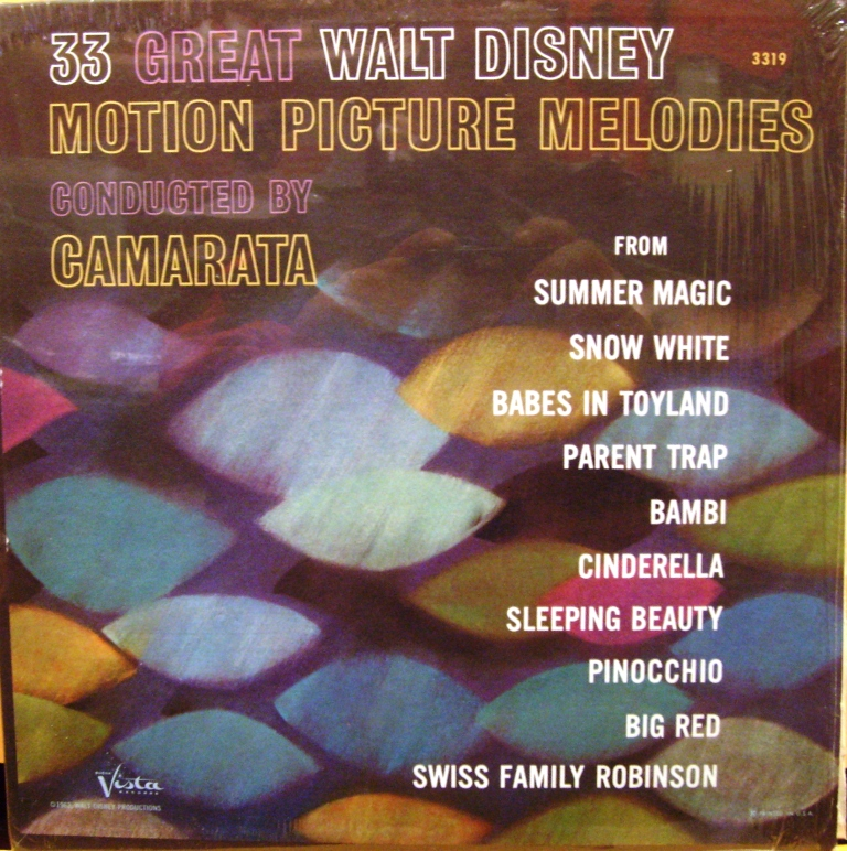 33 Great Walt Disney Motion Picture Melodies