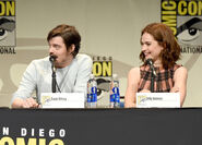 Lily James Sam Riley SDCC