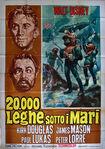 20000 leagues italian poster original