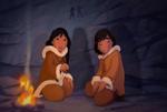 Nita y Kenai de pequeños