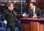Elton John visits Stephen Colbert