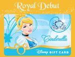 Cinderella Royal Debut Disney Gift Card