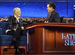 Glenn Close visits Stephen Colbert
