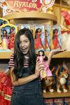 Jenna Ortega with Isabel doll