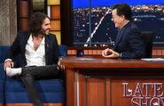 Russell Brand visits Stephen Colbert