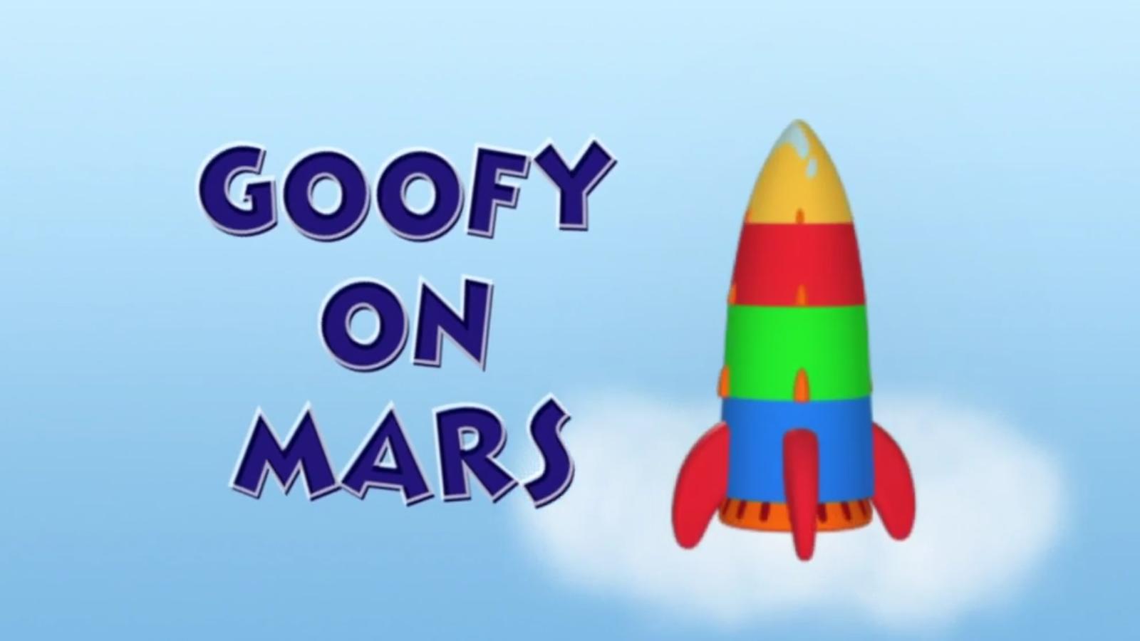 Goofy on Mars