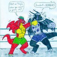 Boxing jake long vs dark dragon by jose ramiro-d5mwhz5