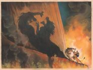 Scar and Simba Fight Concept Art