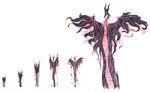 Dragon transformation animation steps