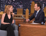 Jessica Chastain visits Jimmy Fallon
