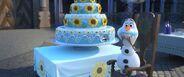 Olaf stole anna's birthday cake