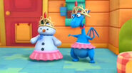 Chilly and stuffy wearing tutus and tiaras