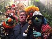 Tom bergeron with the electric mayhem