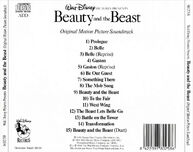 BSO La Bella Y La Bestia (Beauty And The Beast)--Trasera