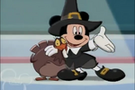 Mickey and Turkey on stage