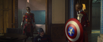 The Falcon and The Winter Soldier - 1x04 - The Whole World is Watching - Dora Milaje with the shield