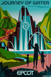 Epcot-experience-attraction-poster-journey-of-water-moana-1