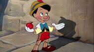 Pinocchio with apple