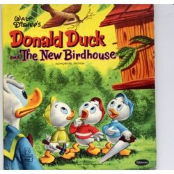 Donald duck and the new birdhouse.jpg