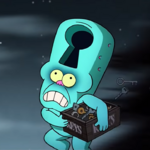 Opening keyhole running with keys.png
