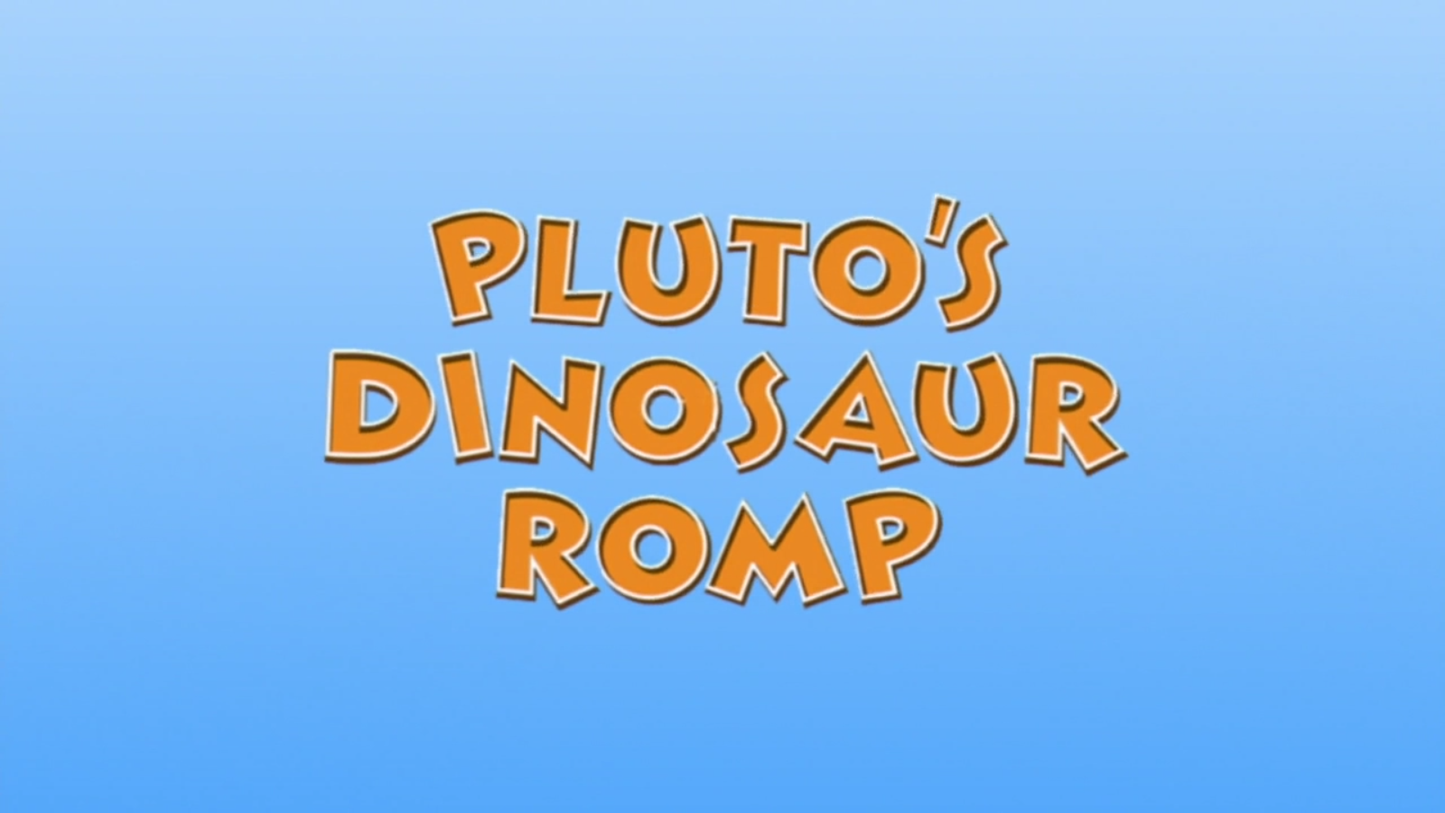 Pluto's Dinosaur Romp
