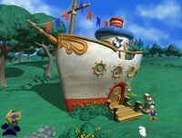 Donald's boat in Mickey Saves the Day 3D Adventure